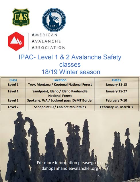 IPAC Avalanche Courses 2019